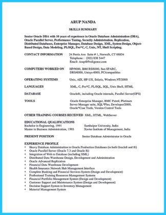 High Impact Database Administrator Resume to Get Noticed Easily  %Image Name