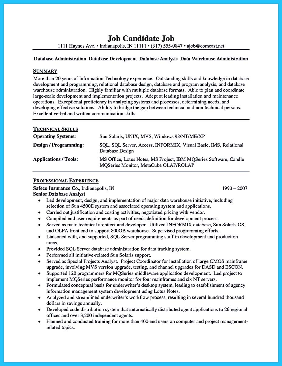 high impact database administrator resume to get noticed easily database administrator resume