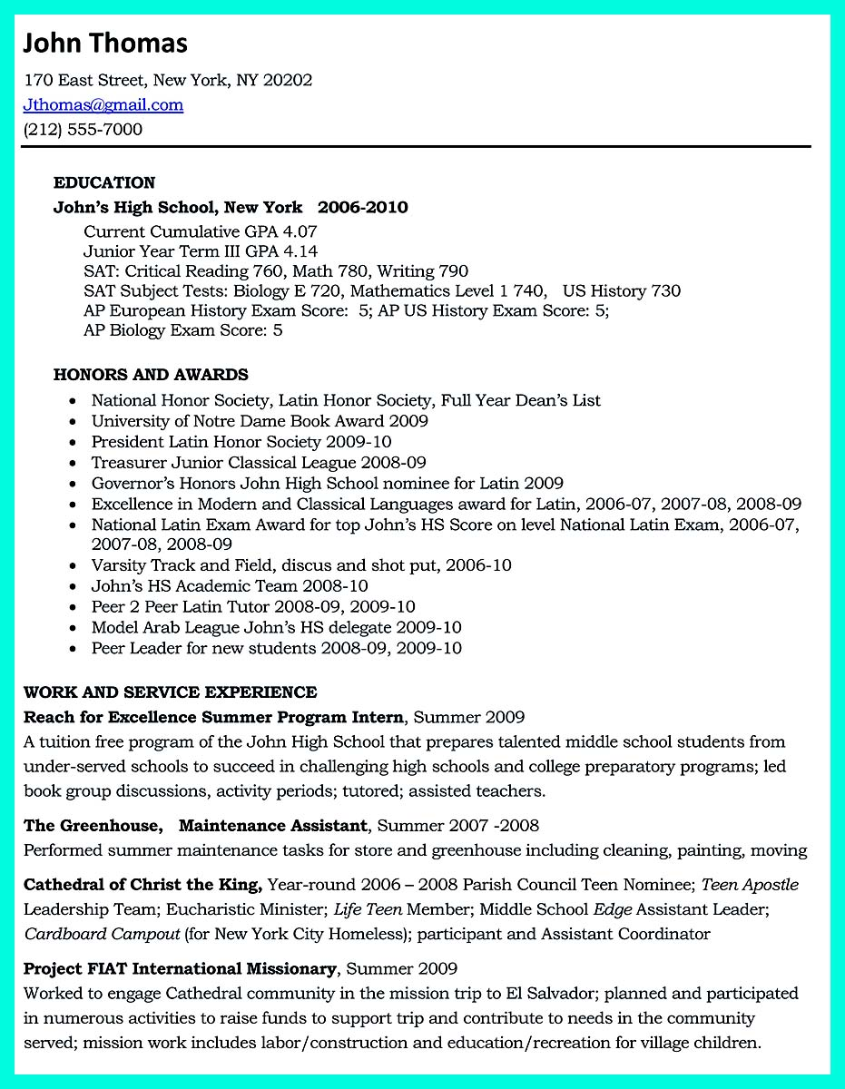 davidson college resume template