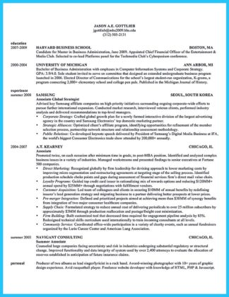 doctor of business administration resume