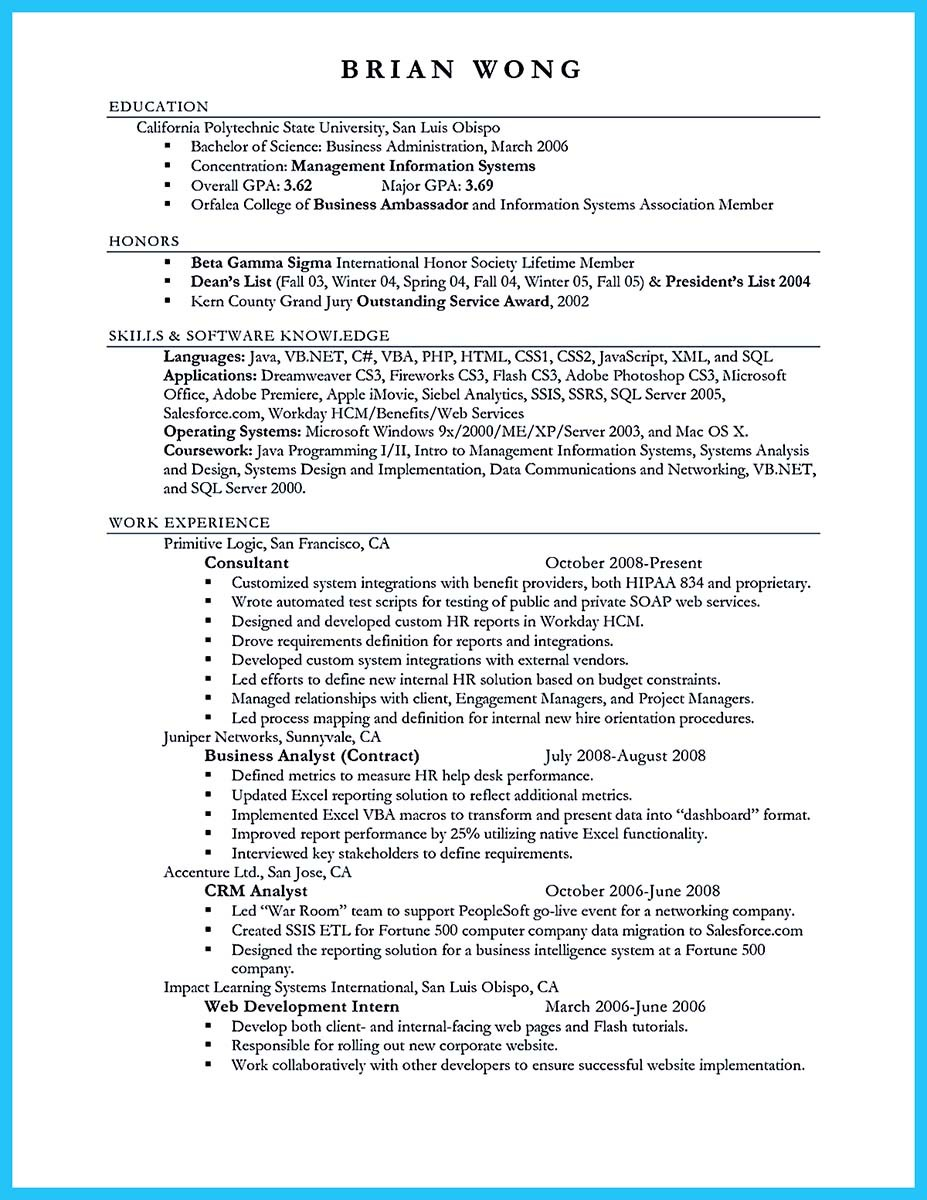 doctor of business administration resume sample