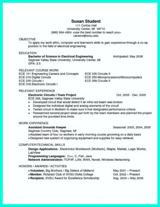 electrical and computer engineering resume