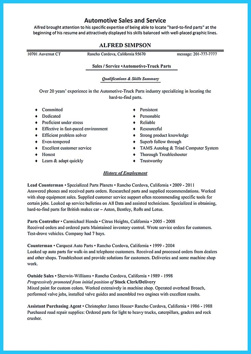 entry level automotive technician resume sample_001