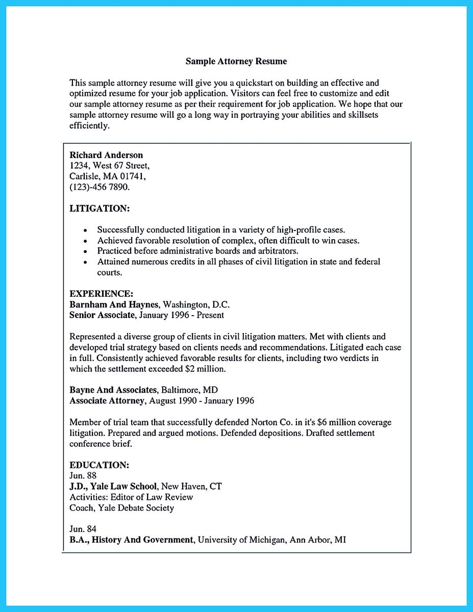 experienced attorney resume samplescriminal defense attorney resume sample