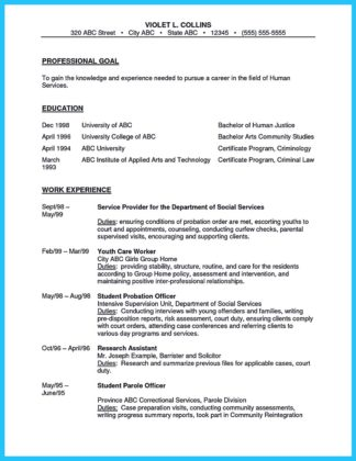 experienced correctional officer resume