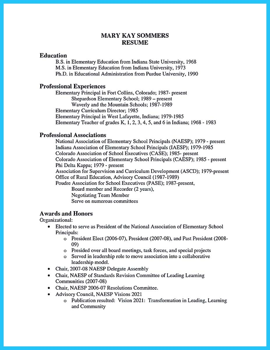 ... Free Assistant Principal Resume Templates ...  Resume For Assistant Principal