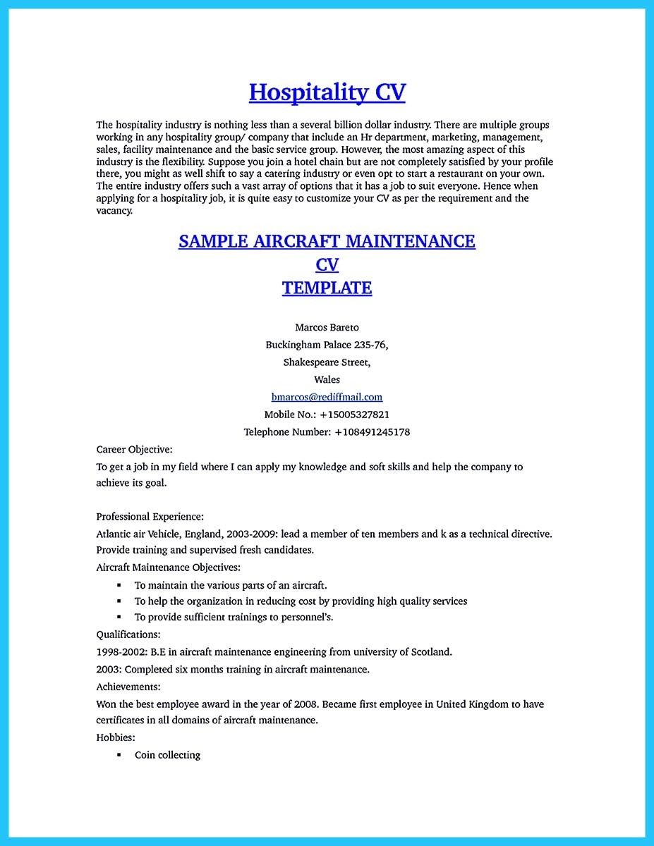 100+ [ Resume Examples Aviation Industry ] | Resume Sample For ...