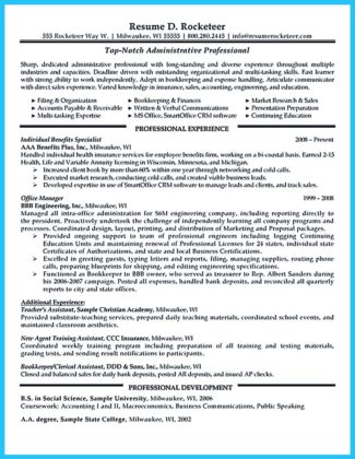 free business administration resume templates