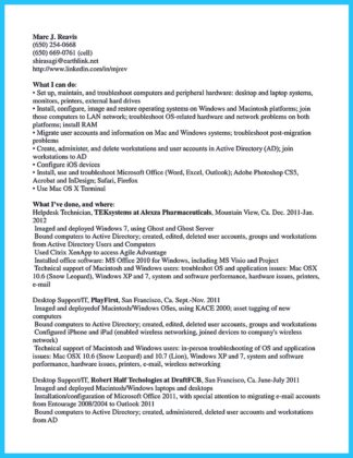 free sample cable technician resume