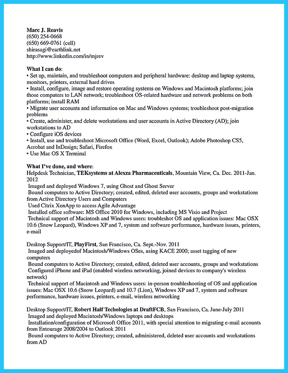 Network cable technician resume - Network Technician Resume Example ...