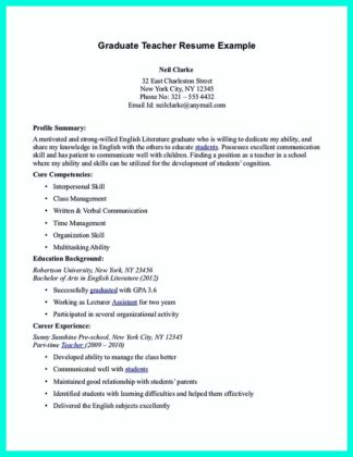 simple but effective resume