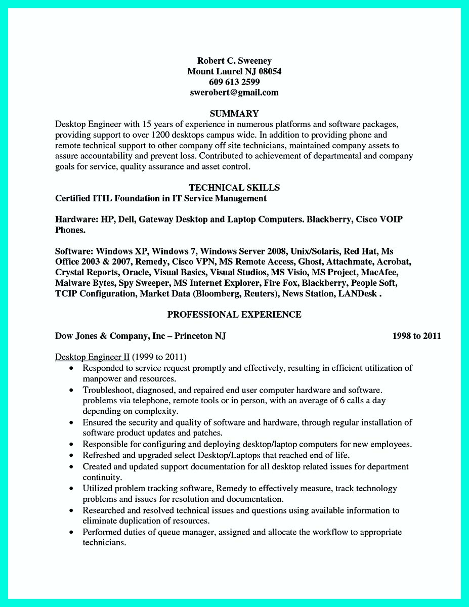 good computer engineering resume