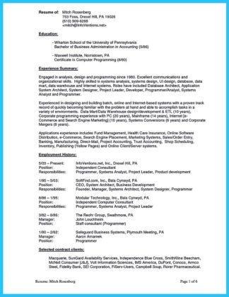 great business administration resume