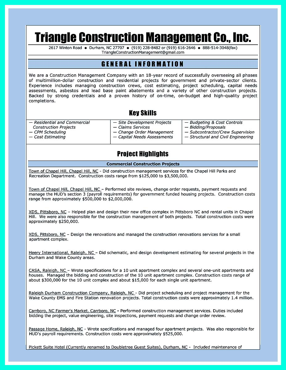 construction manager resume 324x420 best construction manager resume