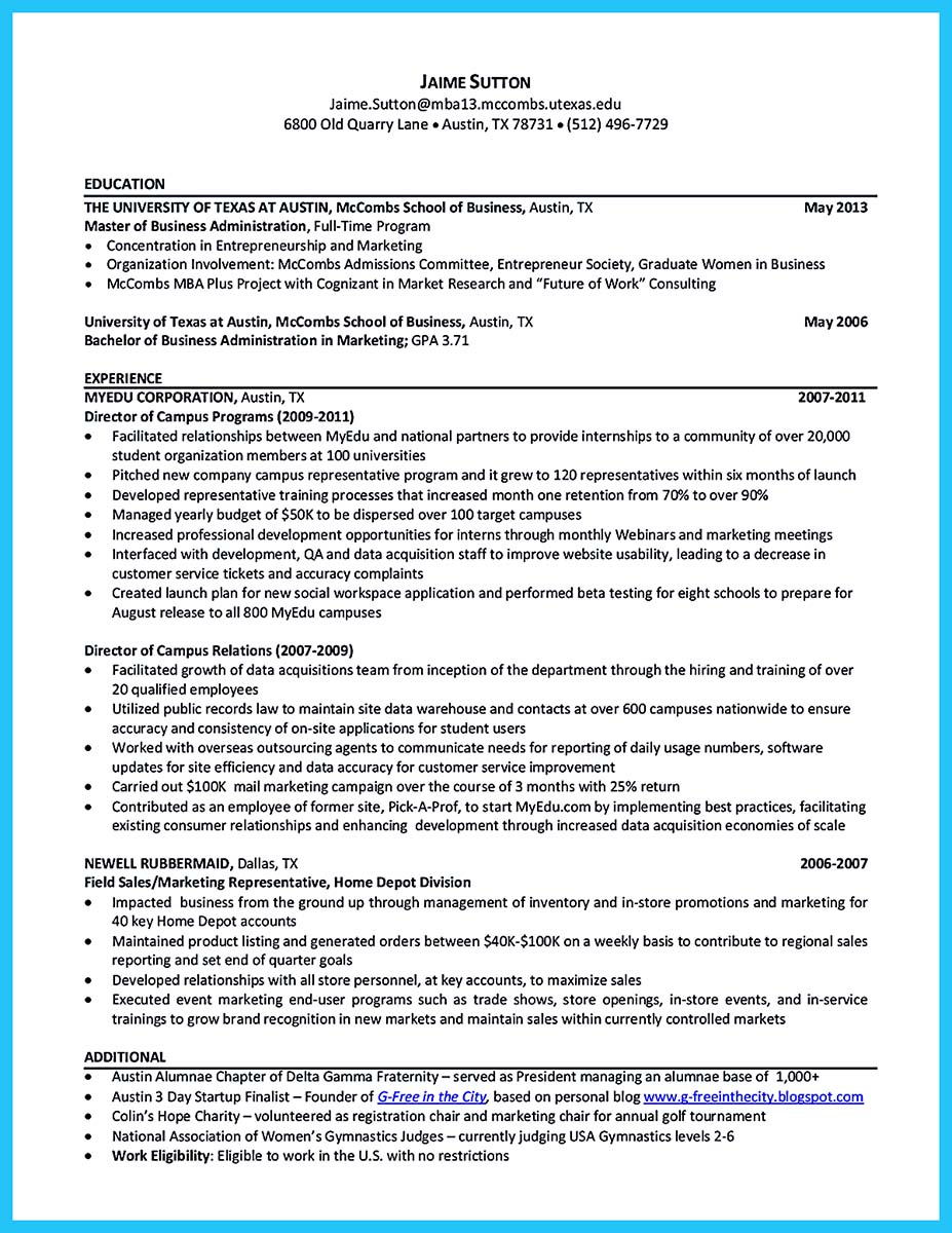 harvard business school resume examples