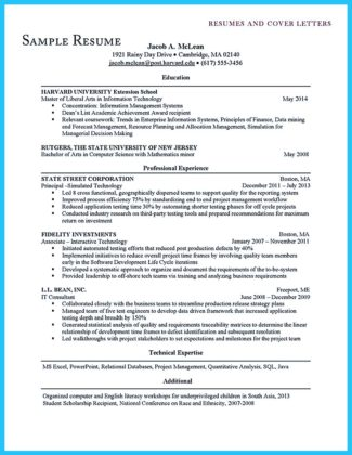 harvard business school resume format