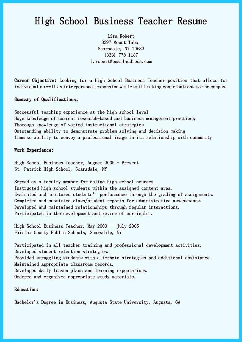 harvard business school resume format pdf