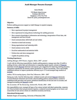 internal auditor resume summary and hotel auditor resume