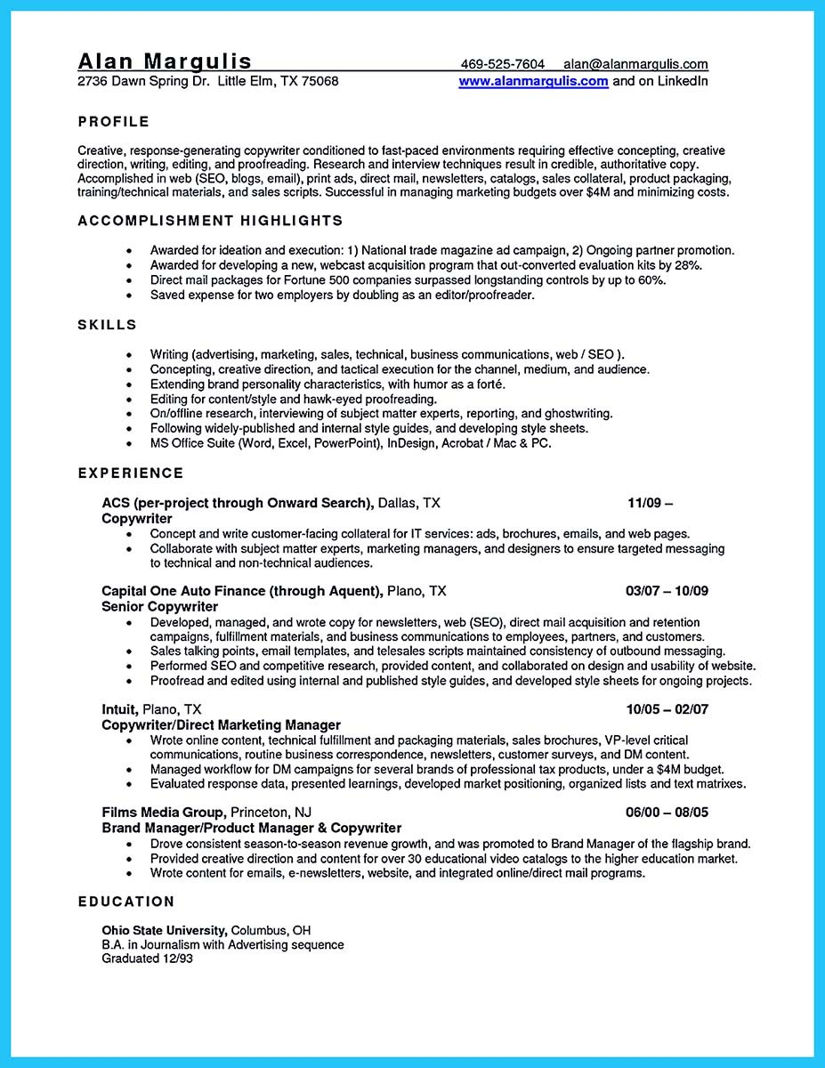 Good Sales Resume Examples