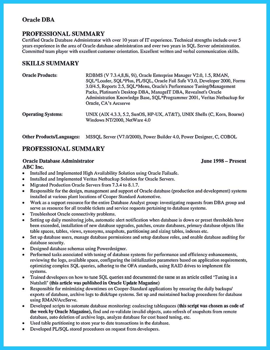 database administrator resume samples database administrator resume sample - Database Administrator Resume Examples