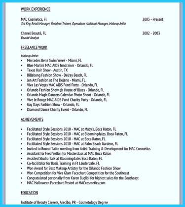 Freelance Makeup Artist Resume Sample Free Resume Example And