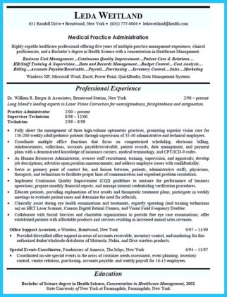 masters business administration resume
