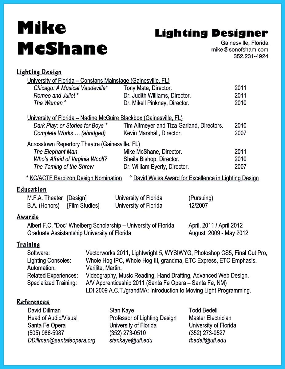 Crafting A Representative Audio Engineer Resume