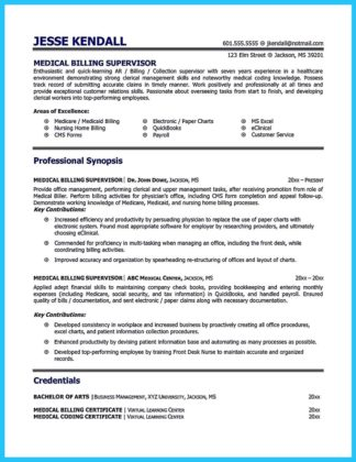 medical billing specialist resume examples with billing specialist job resume