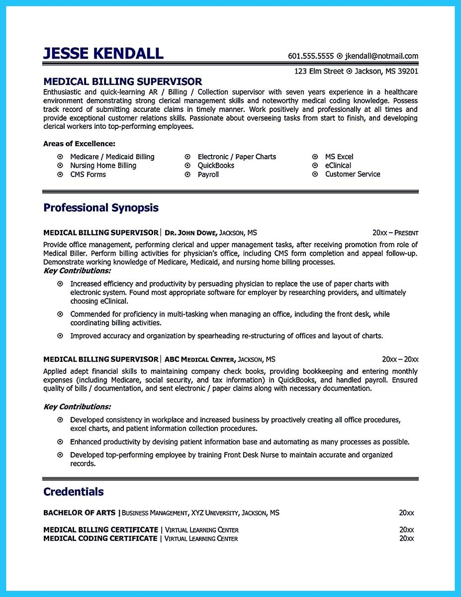 medical billing specialist resume examples with billing specialist job