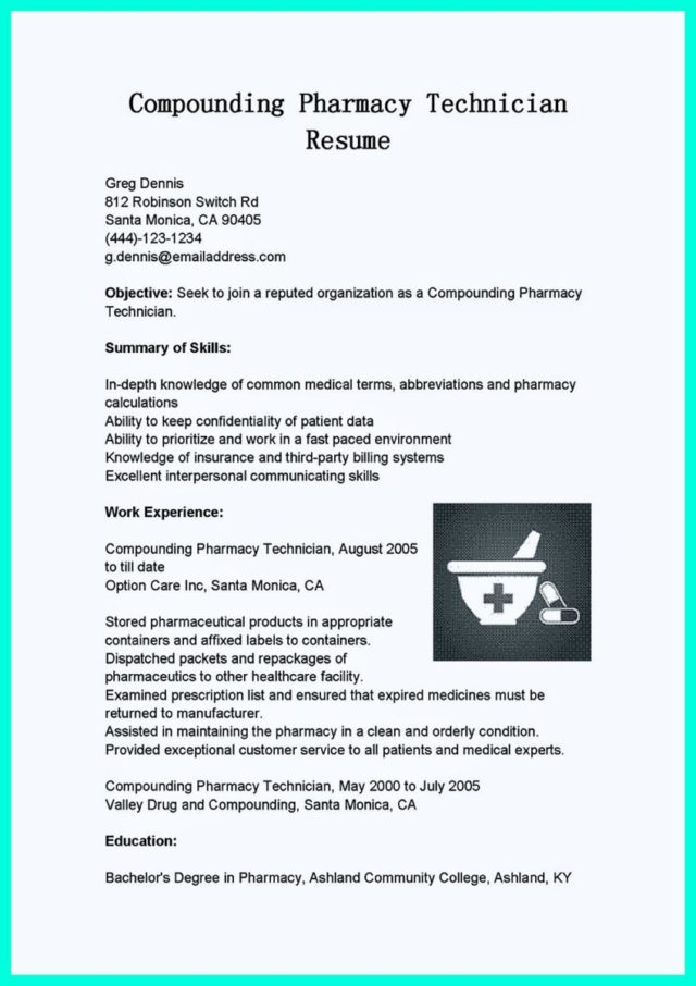 non certified pharmacy technician resume and sample resume for certified pharmacy technician
