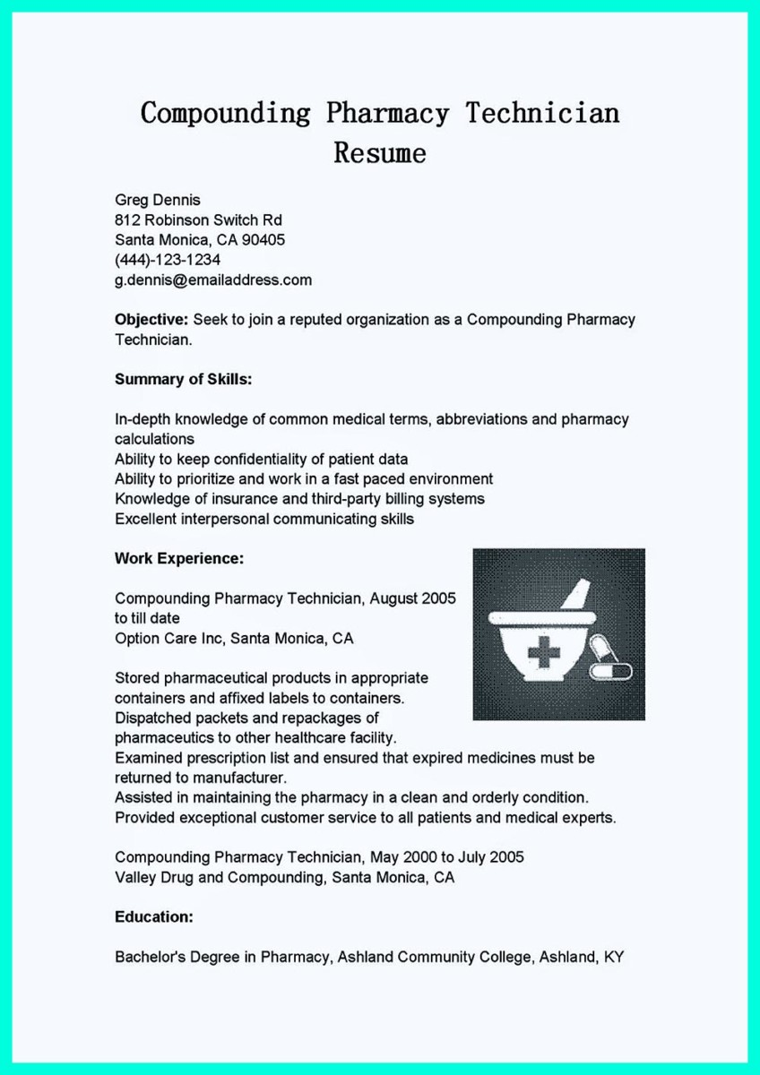 pharmacy technician resume example visualcv