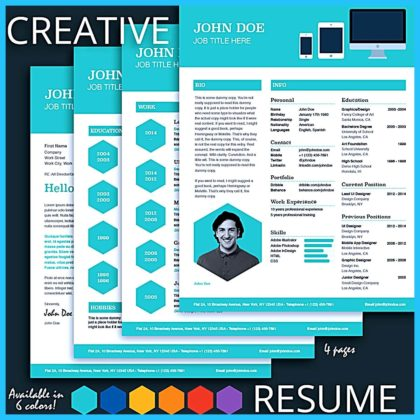 Custom and Unique Artistic Resume Templates for Creative Work  %Image Name