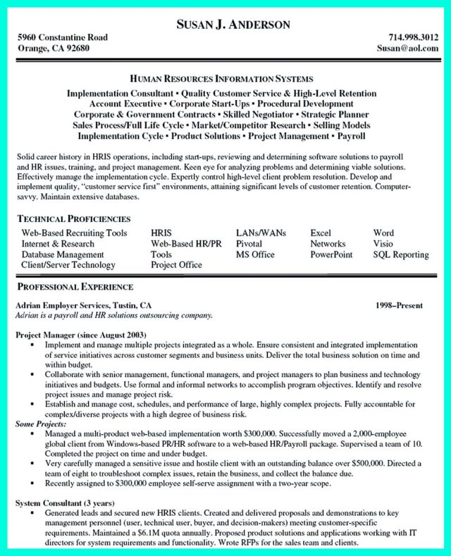 cool construction project manager resume to get applied how to write
