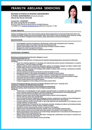 objective in business administration resume