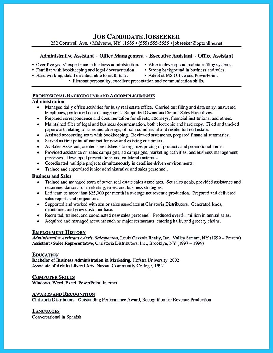 attract your employer with defined administrator resume