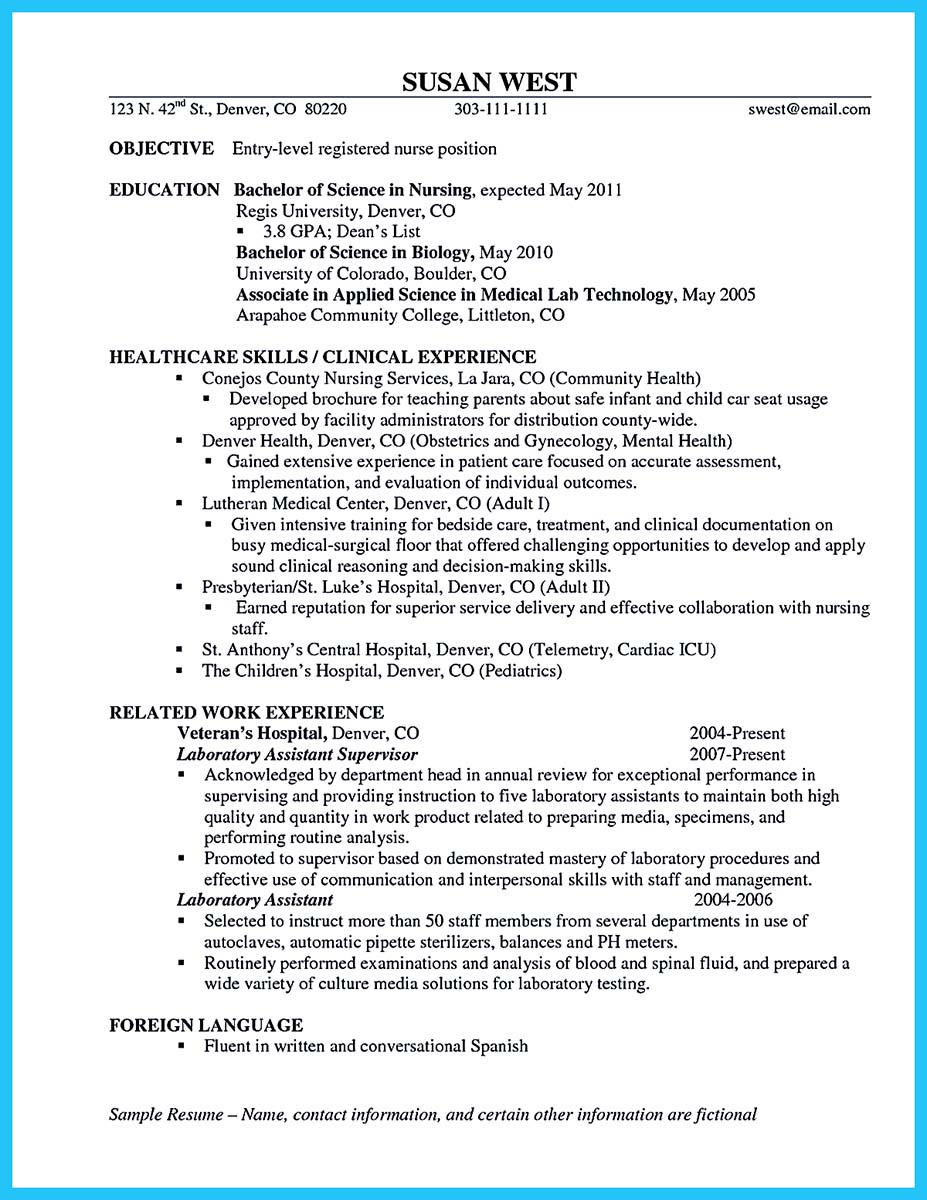 Resume ...  Entry Level Nurse Resume