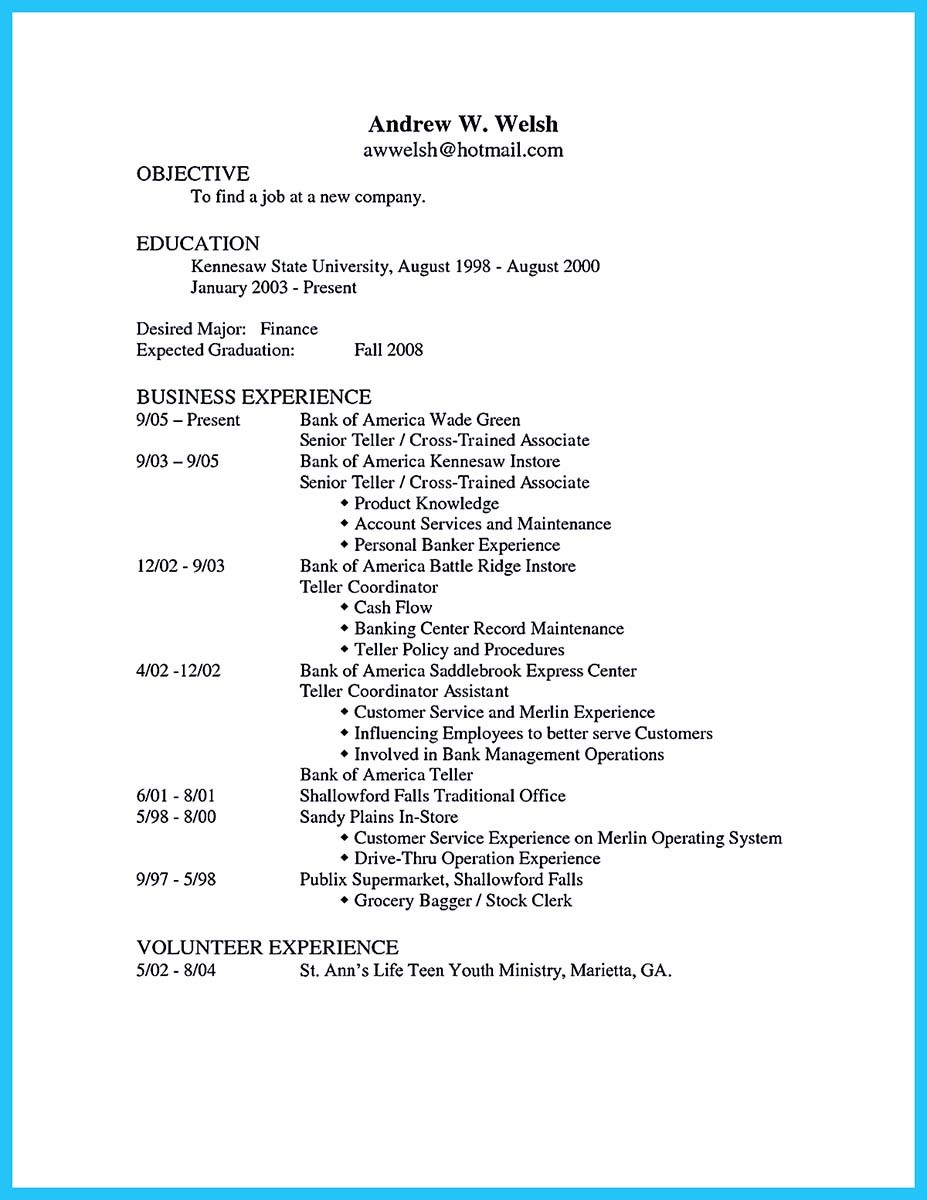 personal banker resume sample one and examples of banking resume