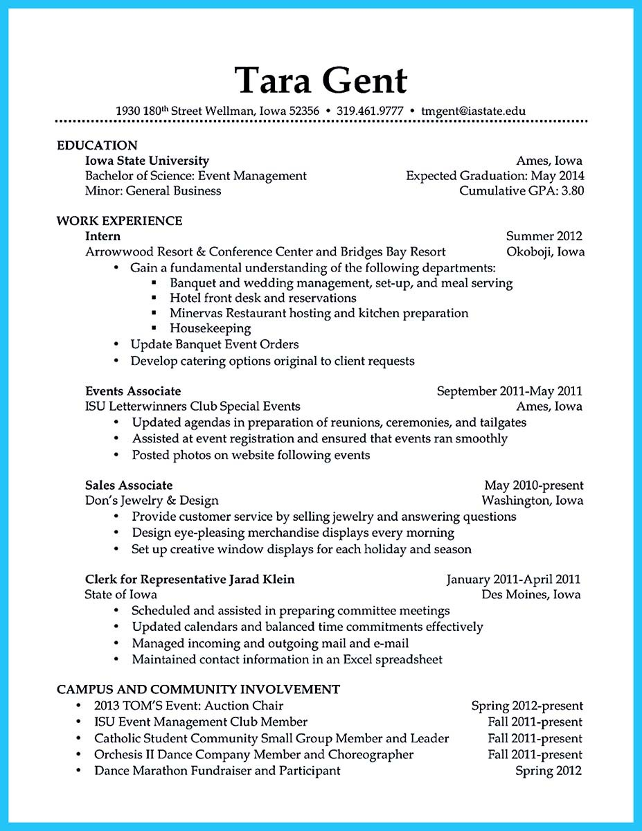 order of experience on resumes