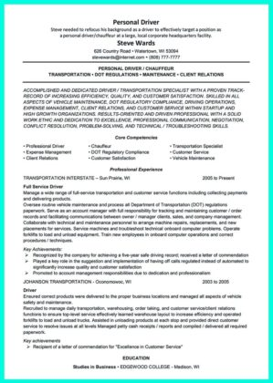 professional cdl driver resume
