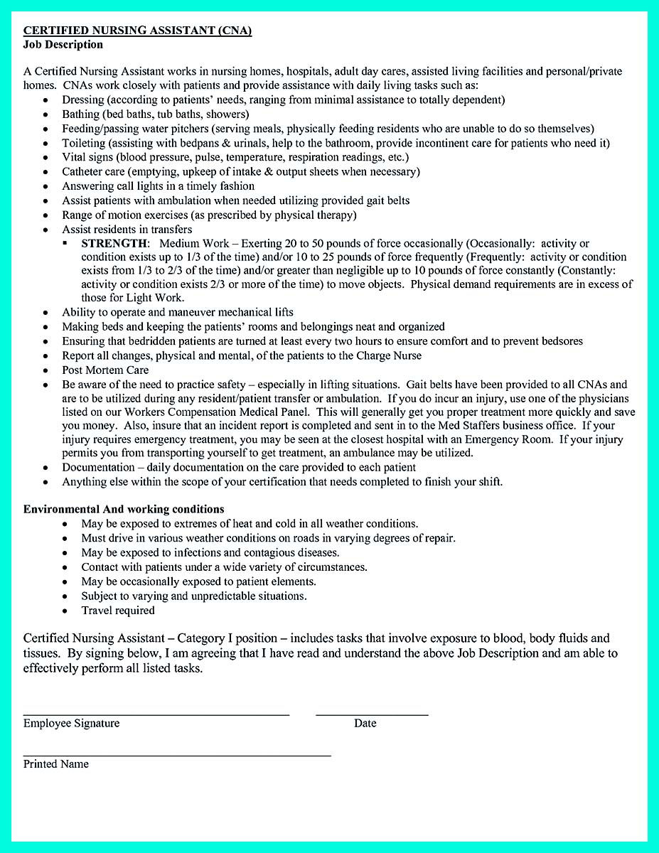 professional cna resume sample - Professional Cna Resume