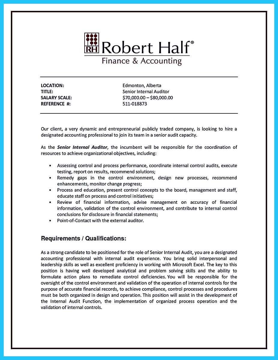 ... Quality Auditor Resume And Resume For Auditor Position ...  Senior Auditor Resume