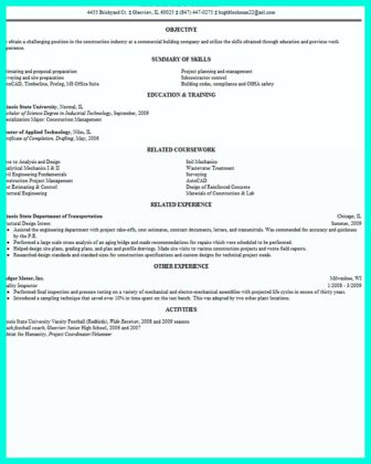 residential construction management resume