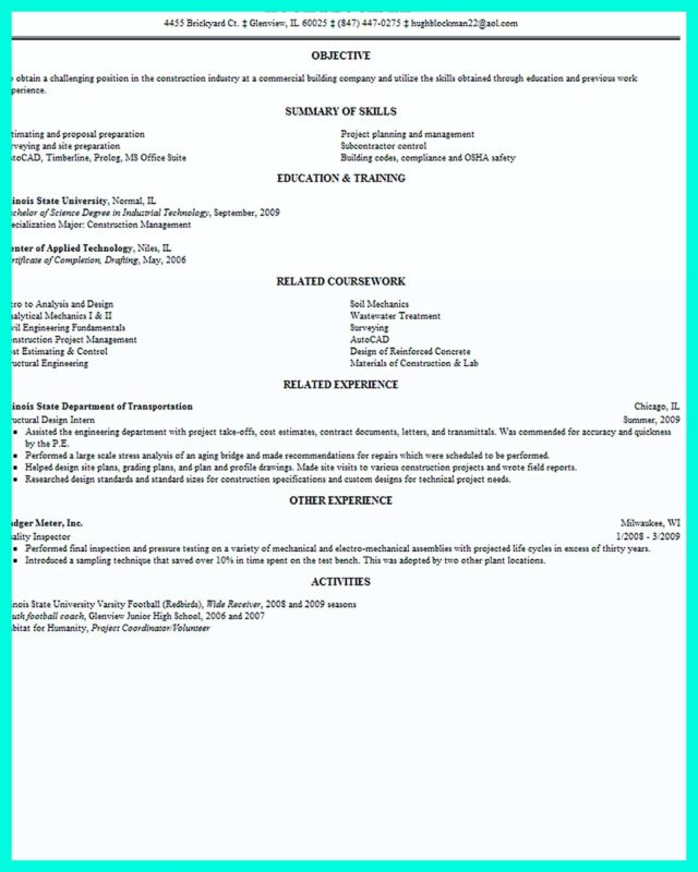 construction management resume is designed for a professional who have