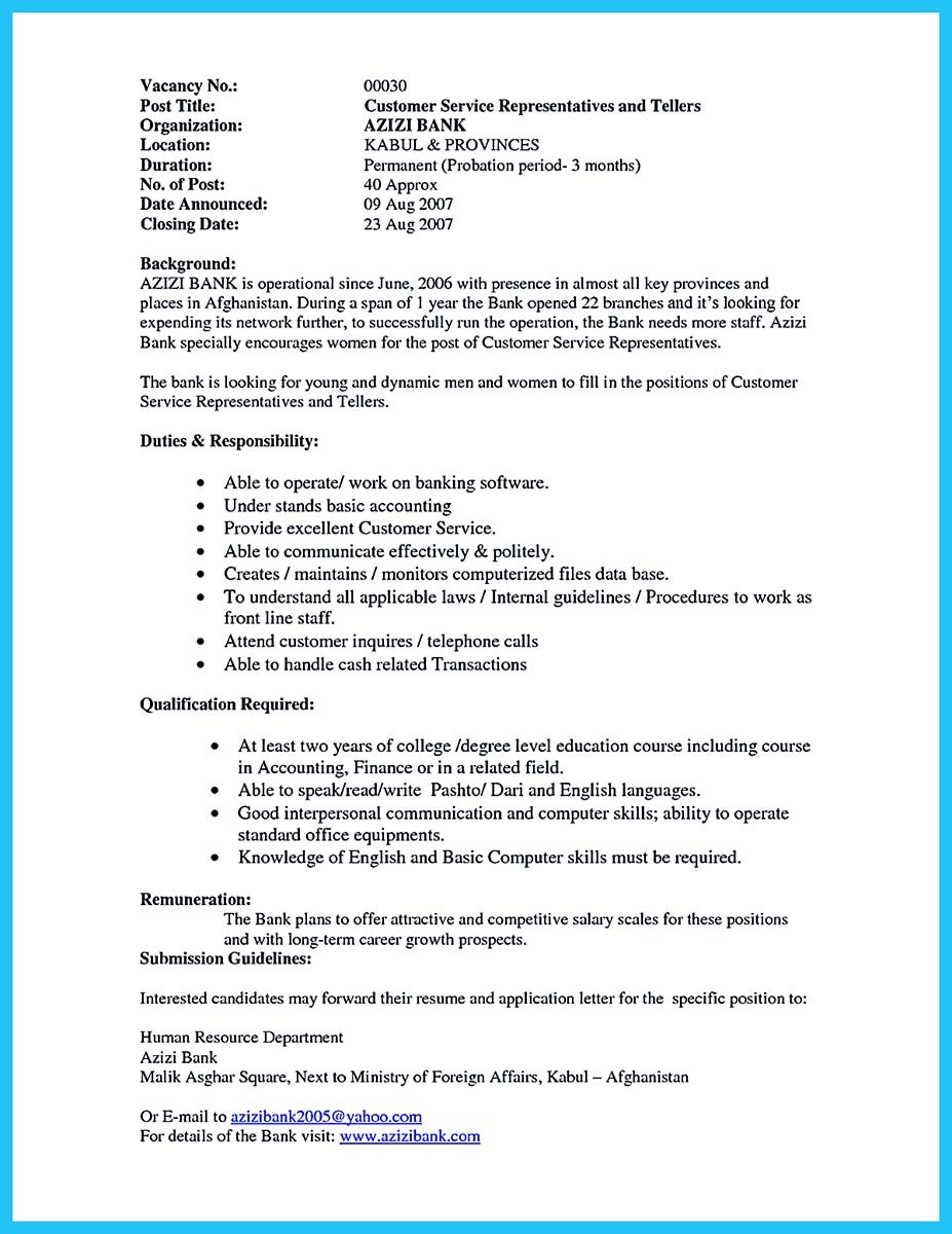 customer service representative bank resume sample customer service advisor resume samples
