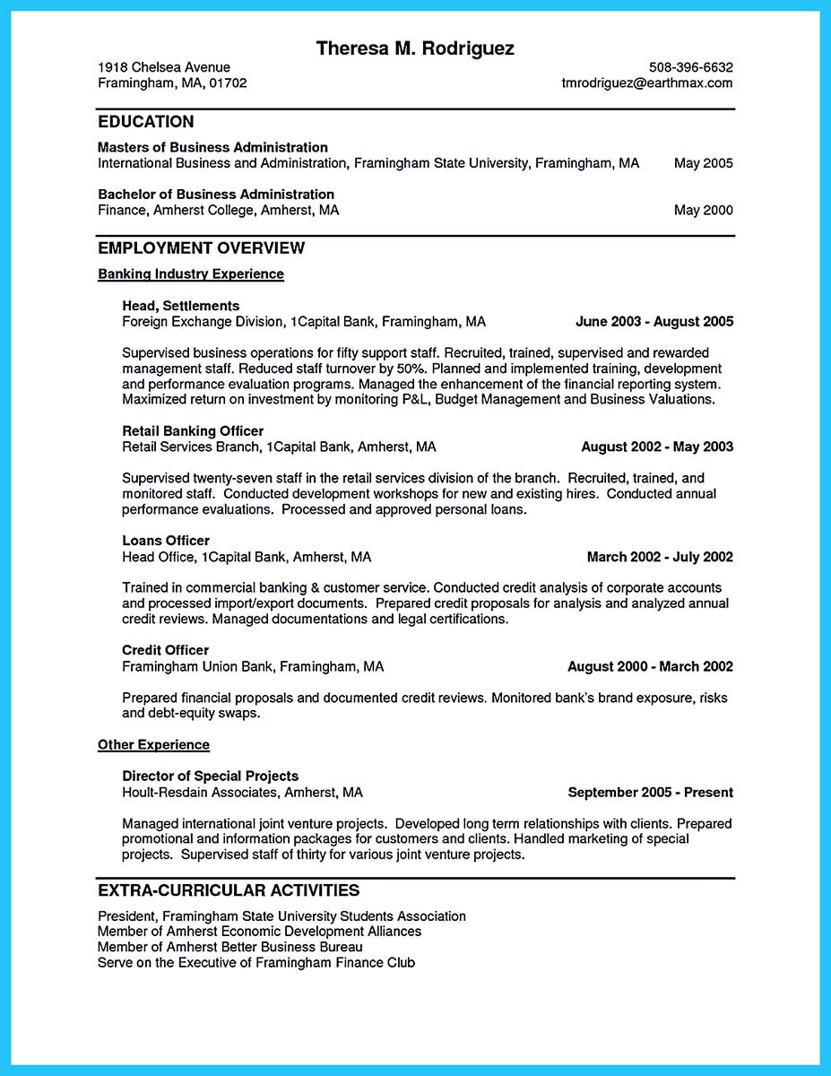 resume examples for banking positions and banking customer service resume examples