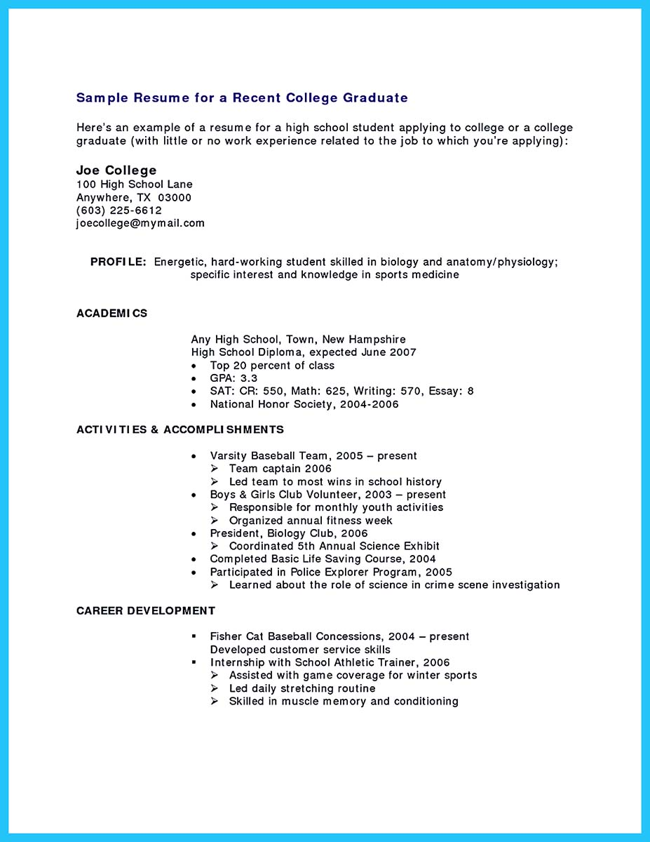 ... Resume For A Current College Student. «  Current College Student Resume