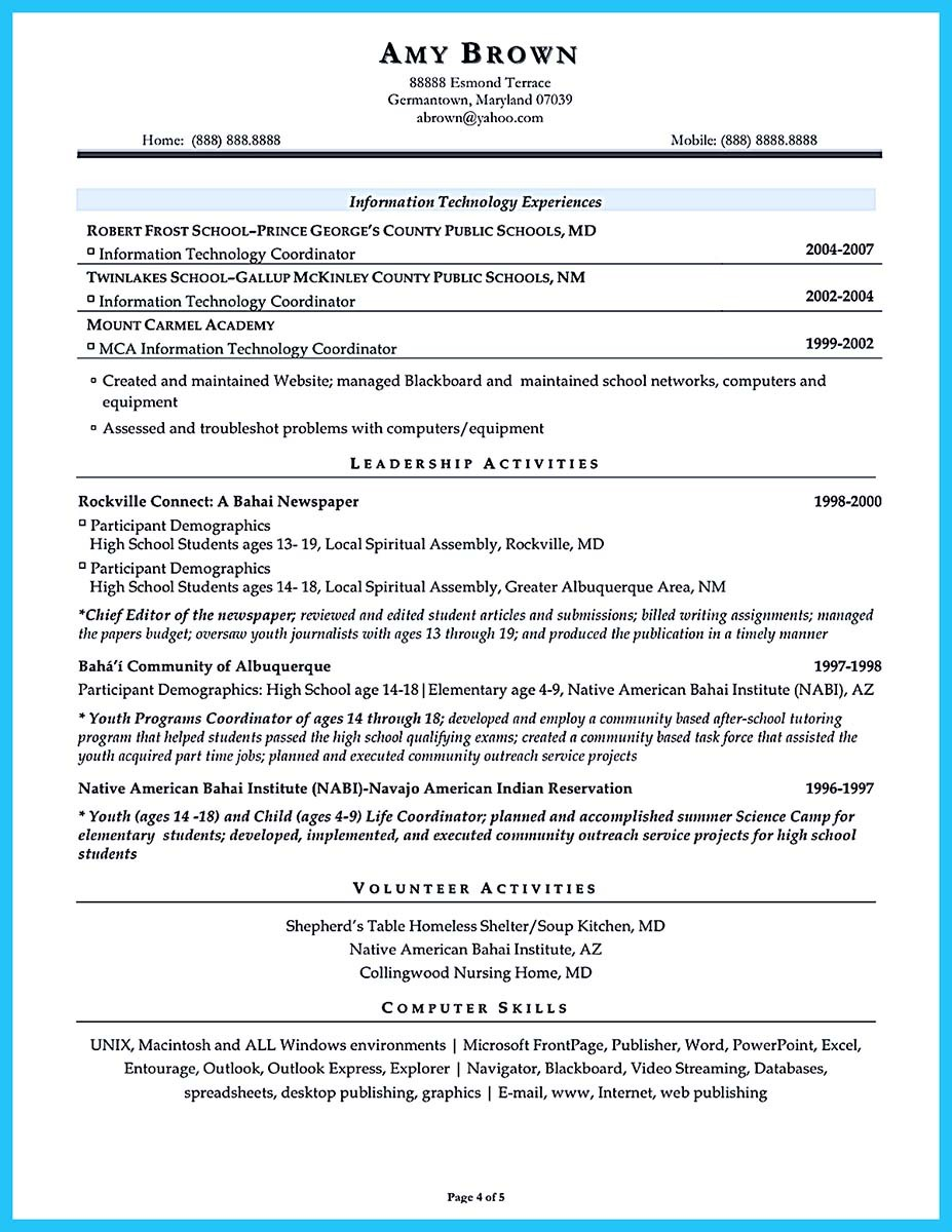 resume for assistant principal - Sample Effective Resume
