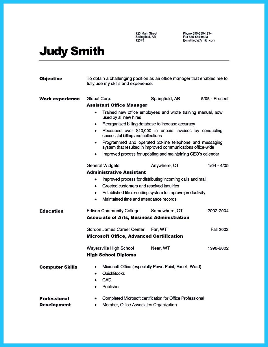 writing a great assistant property manager resume