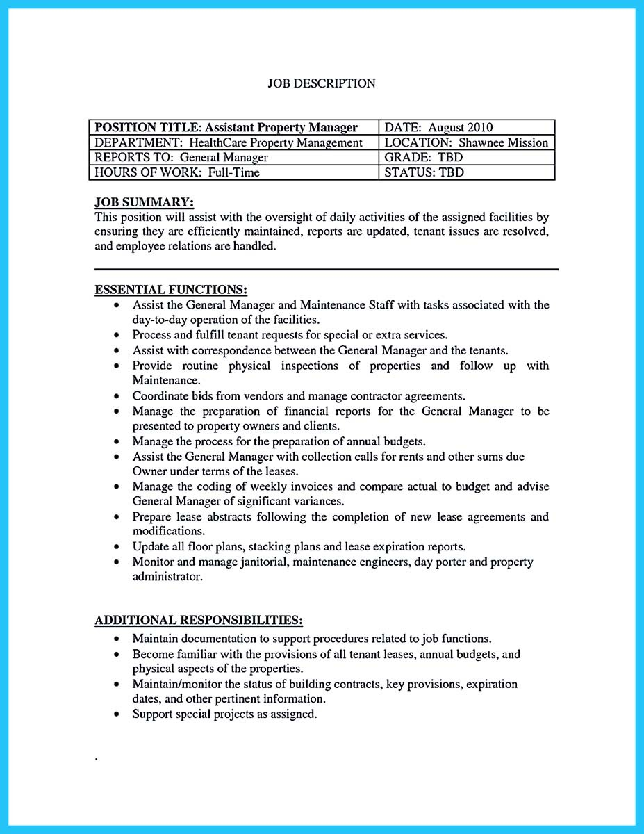 resume for assistant property manager (18)