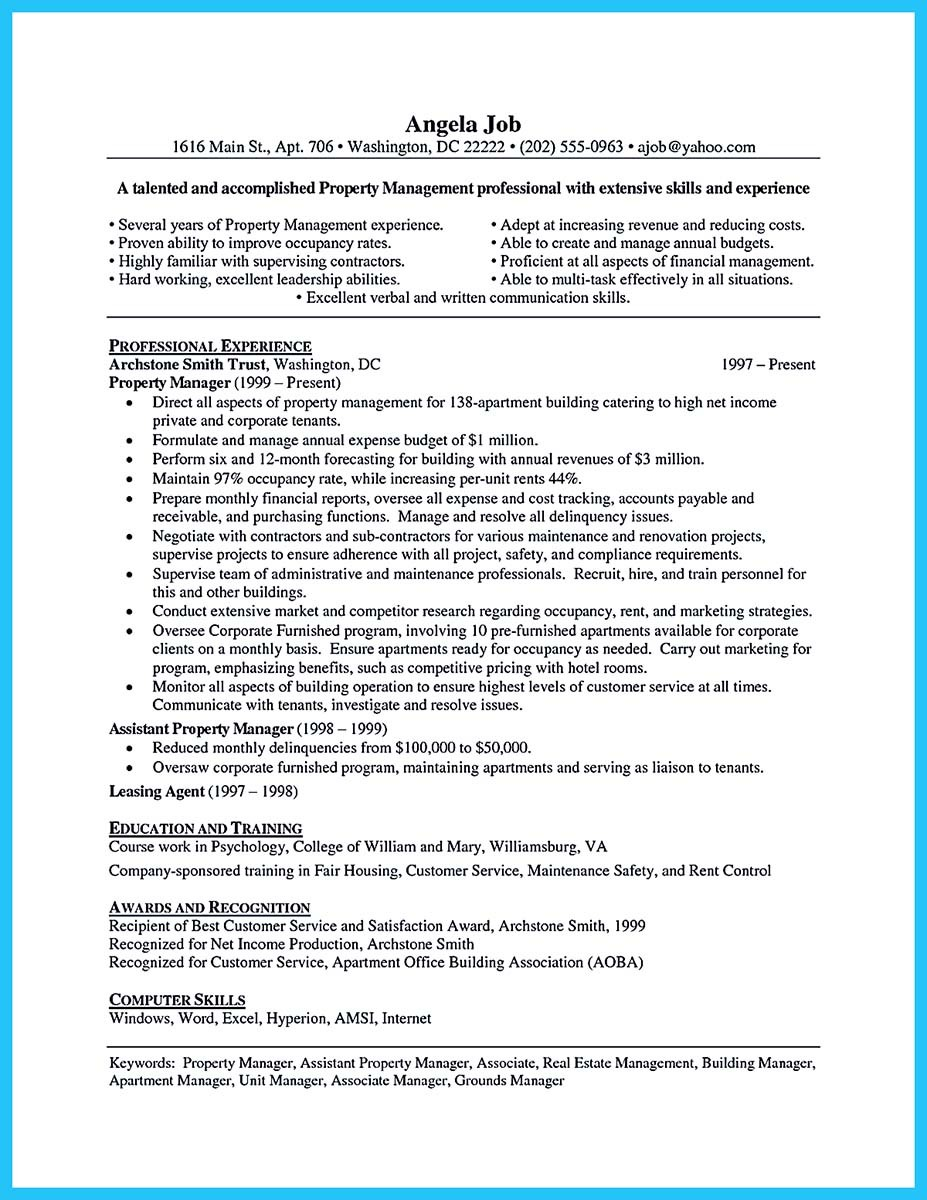 resume for assistant property manager (2)